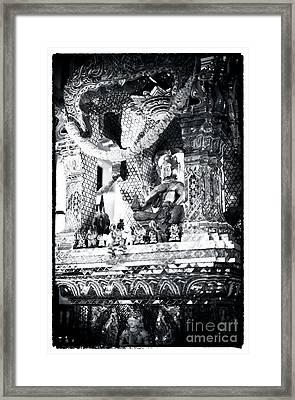 Buddha In Vegas Framed Print