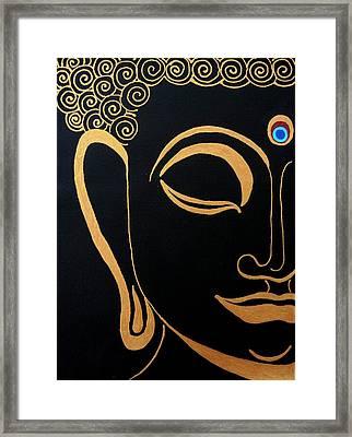 Buddha Iv Framed Print by Kruti Shah