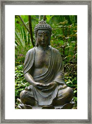 Framed Print featuring the photograph Buddha by Keith Hawley