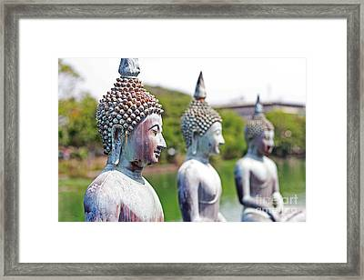 Buddha Framed Print by Lars Ruecker
