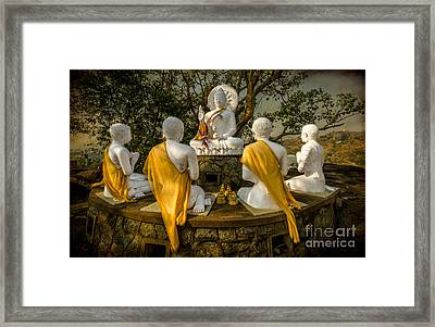 Buddha Lessons Framed Print by Adrian Evans
