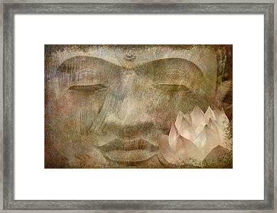 Buddha Lotus Framed Print by Cora Niele