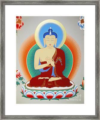 Buddha Maitreya Framed Print by Sergey Noskov