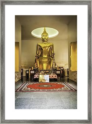 Gold Buddha Framed Print by Maria Coulson