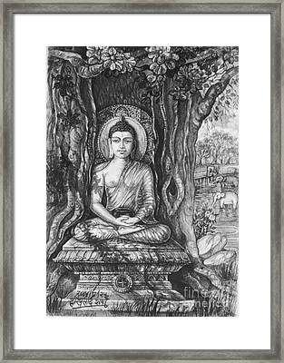 Buddha Meditating Framed Print
