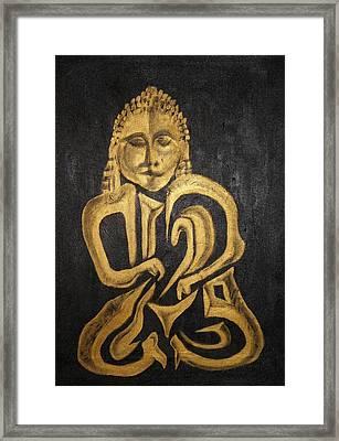 Buddha Metallica Framed Print by Pius Kendakur