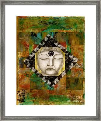 Buddha Mind Framed Print by Nancy TeWinkel Lauren