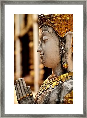 Buddha - Namaskara Mudra Framed Print by Dean Harte