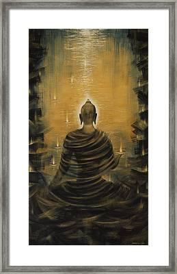 Buddha. Nirvana Ocean Framed Print by Vrindavan Das