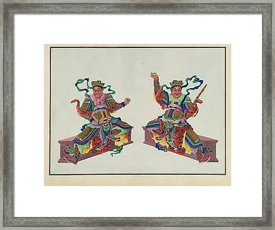 Buddha Or Buddhist Deities Framed Print by British Library