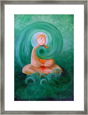 Buddha Painting Framed Print by Avril Whitney