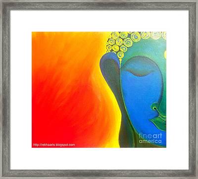 Buddha Painting Framed Print by Rekha Artz