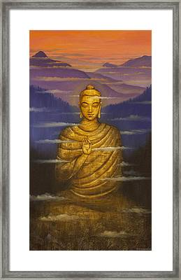 Buddha. Passing Clouds Framed Print