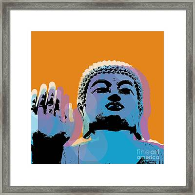 Buddha Pop Art - Warhol Style Framed Print by Jean luc Comperat