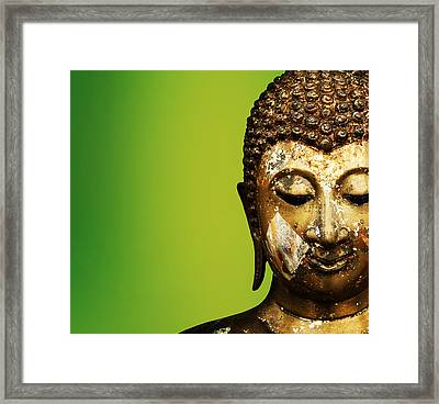 Buddha Portrait  Framed Print by Thanes