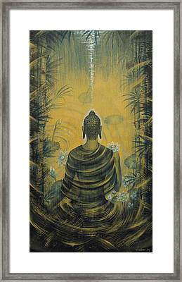 Buddha. Presence Framed Print by Vrindavan Das