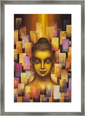 Buddha. Rainbow Body Framed Print by Yuliya Glavnaya