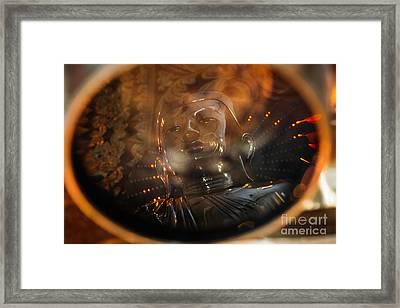 Buddha Reflection Framed Print by Dean Harte
