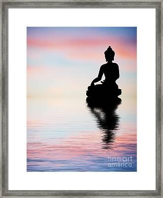 Buddha Reflection Framed Print by Tim Gainey