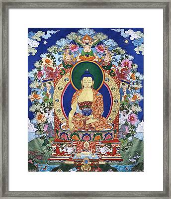 Buddha Shakyamuni And The Six Supports Framed Print