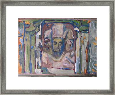 Framed Print featuring the painting Buddha Shivaji by Vikram Singh