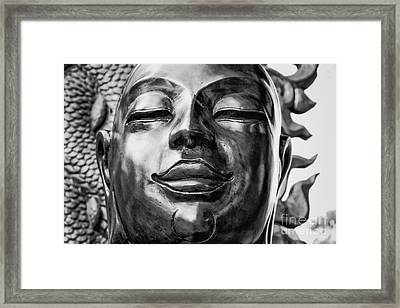 Buddha Smile Framed Print by Dean Harte