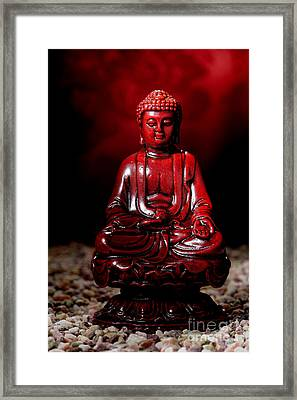 Buddha Statue Figurine Framed Print by Olivier Le Queinec