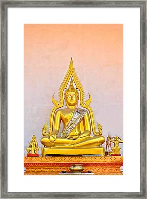 Buddha Statue Framed Print by Keerati Preechanugoon