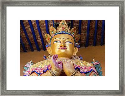 Buddha Statue, Leh, Ladakh, India Framed Print