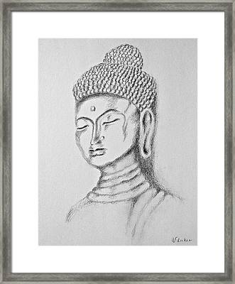 Buddha Study Framed Print by Victoria Lakes