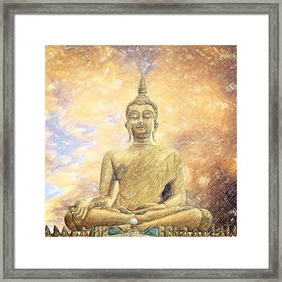 Buddha Framed Print by Taylan Apukovska
