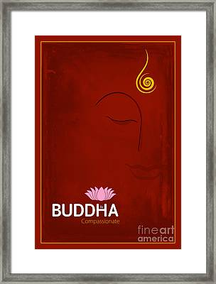 Buddha The Compassionate Framed Print by Tim Gainey