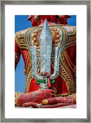 Buddha Trident Sword Framed Print by Adrian Evans