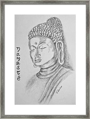 Buddha Framed Print by Victoria Lakes
