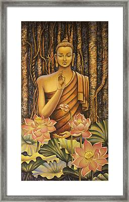 Buddha Framed Print by Vrindavan Das