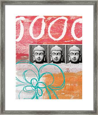 Buddha With Flower Framed Print