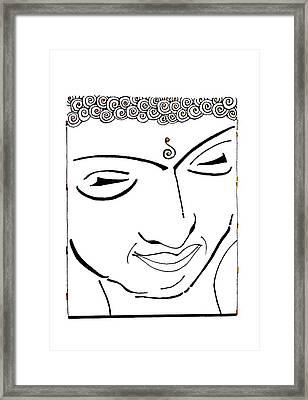 Buddha Xiv Framed Print by Kruti Shah