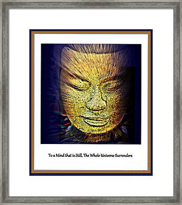 Buddhas Mind Framed Print by Susanne Van Hulst