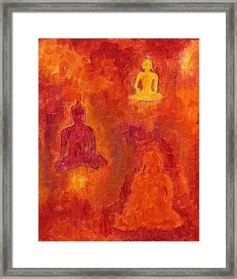 Buddhas Of Compassion Framed Print