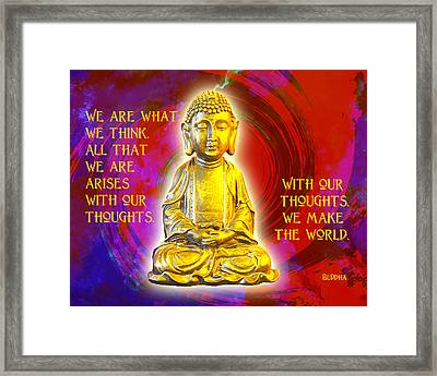 Buddha's Thoughts 2 Framed Print by Ginny Gaura