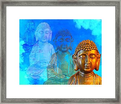 Buddha's Thoughts Framed Print by Ginny Gaura
