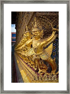Buddhist Figurines Framed Print by Inge Johnsson