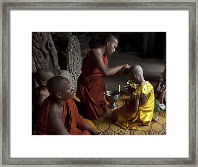Buddhist Initiation Photograph By Jo Ann Tomaselli Framed Print