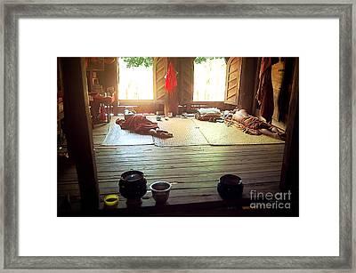 Buddhist Monastery Inside Framed Print