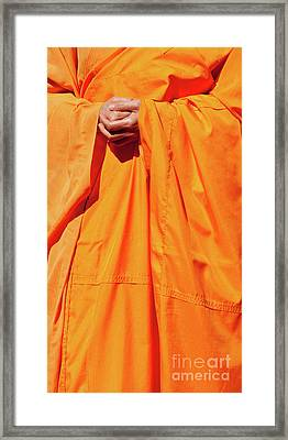 Buddhist Monk 02 Framed Print