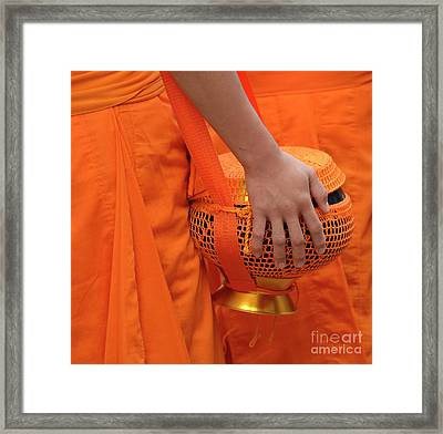 Buddhist Monks Hand Framed Print by Bob Christopher
