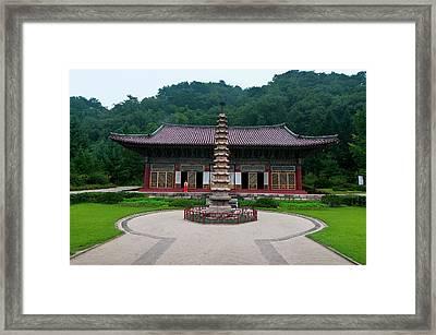 Buddhist Pohyon-temple, Mount Framed Print by Michael Runkel