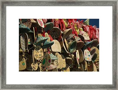 Buddhist Prayer Wishes Ema Hanging Framed Print by Panoramic Images