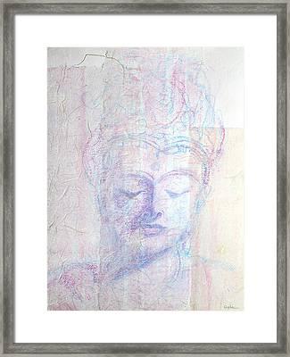 Buddhist Queen Of Long Ago Framed Print by Asha Carolyn Young
