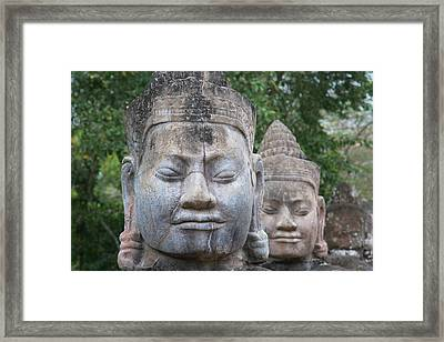 Buddhist Statues At The South Gate Framed Print by Keren Su